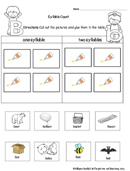 Working with the Letter B