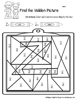 Working with the Letter Z