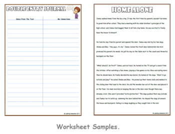 Working with the Super Six Comprehension Strategies - Double  Entry Journal