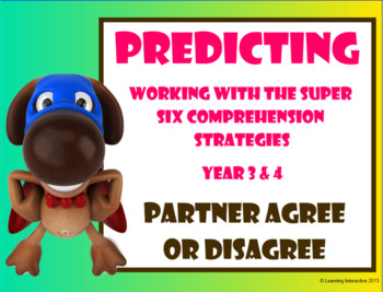 Super Six Comprehension Strategies - Predicting - Partner Agree or Disagree