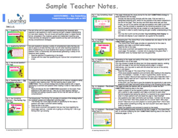 Working with the Super Six Comprehension Strategies -  Say Something