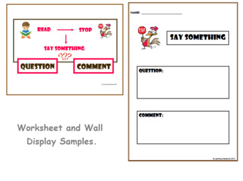 Super Six Comprehension Strategies -  Questioning - Say Something
