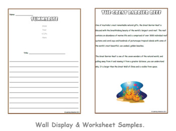 Working with the Super Six Comprehension Strategies - Summarising