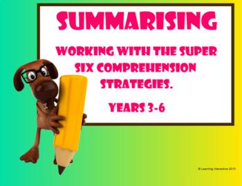 Super Six Comprehension Strategies - Summarising - MyVIP's