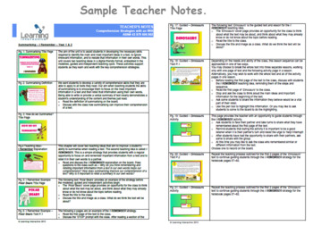 Working with the Super Six Comprehension Strategies - Summarising - I Remember
