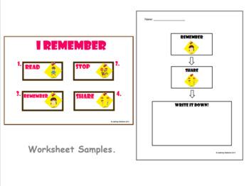Super Six Comprehension Strategies - Summarising - I Remember