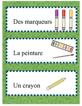 Working with words - French classroom vocabulary
