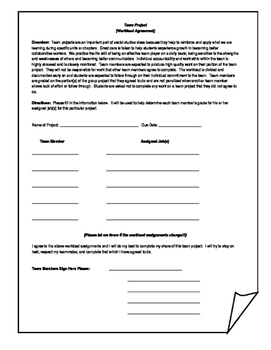 Workload Agreement Form