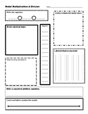 Workmat to Model Multiplication & Division