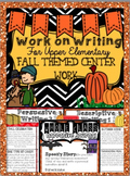 Work on Writing BUNDLE: Upper Elementary (Fall, Halloween, Thanksgiving)