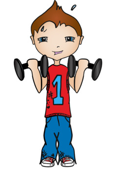 Workout Kids Clipart FREEBIE