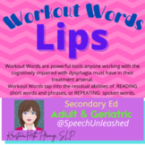 Workout Words-LIPS: Oral motor exercises with the cognitively impaired