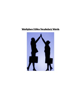 Workplace Ethics Vocabulary Words and Puzzle