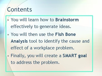 Workplace Issues - Brainstorm, Root Cause and Set Smart Goals