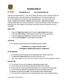 Workplace Math 10 - Course Outline