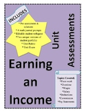 Workplace Math 10 - Earning an Income (Unit Assessments)