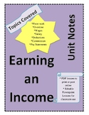 Workplace Math 10 - Earning an Income (Unit Notes)