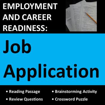 Employment & Career Readiness: Job Application Activities