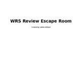 Workplace Readiness Skills (WRS) Escape Room Review