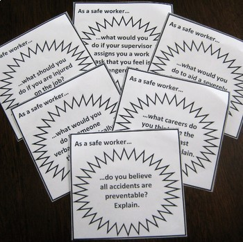 Workplace Safety and Health Card Set / Group Activity