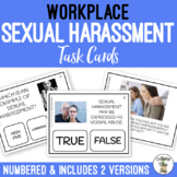 Workplace Sexual Harassment Task Cards - Vocational Job Etiquette