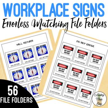 Workplace Signs Errorless Matching File Folders