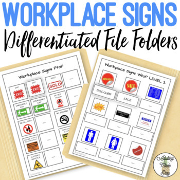 Workplace Signs File Folders