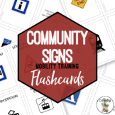 Community Signs Flashcards & Activities