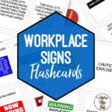 Workplace Signs Flashcards with Visuals