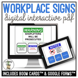 Workplace Signs Digital Activity Distance Learning
