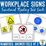 Workplace Signs Functional Reading Task Clip Cards Vocational