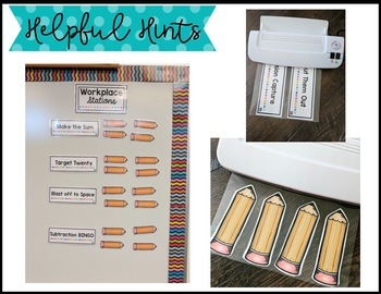 Workplace Station Labels for Bridges 1st Grade - Labels and Nametags - Editable