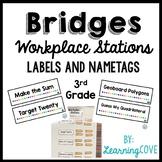 Workplace Station Labels for Bridges 3rd Grade - Labels an