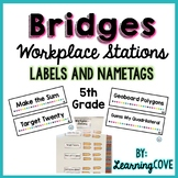 Workplace Station Labels for Bridges 5th Grade - Labels and Nametags - Editable