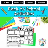 Back to School Activities - Goal-Setting For the First Week {Grades 2-4}