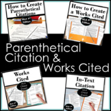 Works Cited and Parenthetical Citation Step by Step Research Guides Bundle
