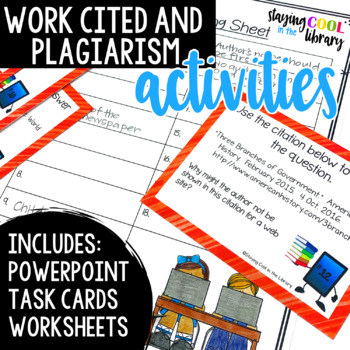 Works Cited and Plagiarism Activities