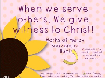 Works of Mercy Interactive Scavenger Hunt