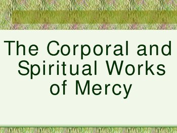 Works of Mercy Power Point