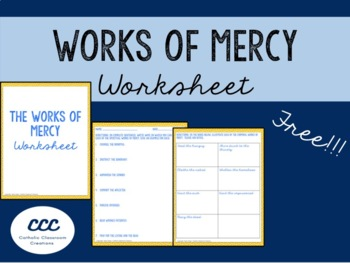 Spiritual And Corporal Works Of Mercy Worksheets & Teaching ...