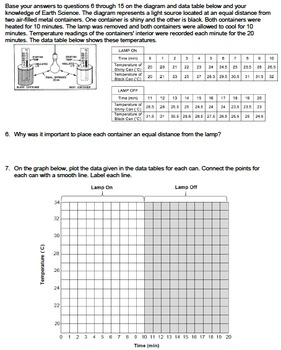 Worksheet - Absorption and Radiation Lab... by NYS Earth Science and ...