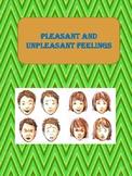 """Pleasant and unpleasant feelings"" Worksheet - Lifes skills"
