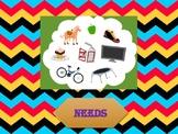 'NEEDS' (Who needs what?) Worksheet - Lifes skills