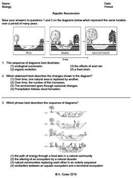 Worksheet - Aquatic Succession *EDITABLE*