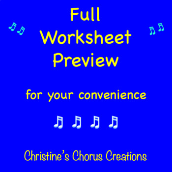 Chorus Worksheet:  Award Winning Grading Criteria