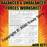 Worksheet: Balanced and Unbalanced Forces