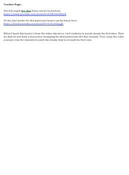 Worksheet: Bill Nye the Science Guy Erosion Video