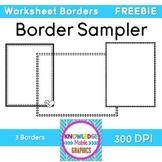 Worksheet Borders FREEBIE - 3 Cute Borders