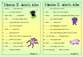 ESL Worksheet Bundle - 13 Questions (Pair Work) - 22 EFL w