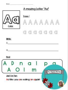 FREE Worksheet Bundle (A-Z)